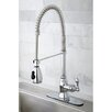 Kingston Brass American Classic Gourmetier Single Handle Pull-Down Spray Kitchen Faucet