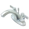 Kingston Brass Nuvo Fusion Double Handle Centerset Bathroom Sink Faucet with Retail Pop-up