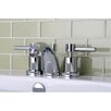 Kingston Brass Concord Double Handle Mini Widespread Bathroom Faucet with Brass Pop-Up Drain