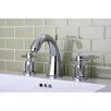 Kingston Brass Concord Double Handle Widespread Bathroom Faucet with Brass Pop-Up Drain