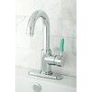 Kingston Brass Green Eden Single Handle Bathroom Faucet with Push-up Drain