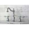 Kingston Brass Tudor Double Handle Widespread Bathroom Faucet with ABS Pop-Up Drain