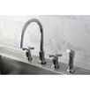 Kingston Brass Millennium Widespread Kitchen Faucet