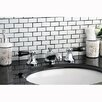 Kingston Brass Metropolitan Onyx Double Handle Widespread Bathroom Faucet with Pop-Up Drain