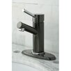 Kingston Brass Water Onyx Single Handle Bathroom Faucet with Brass Pop-Up