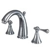 Kingston Brass English Country Double Handle Widespread Bathroom Faucet with Brass Pop-Up Drain