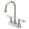 Kingston Brass Governor Double Handle Centerset Bar Faucet