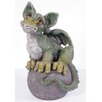 KelKay Magic on Ball Green Dragon Statue