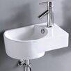 Elanti Wall Mounted Rounded Modern Compact Sink