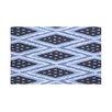 e by design Ikat Diamond Dot Geometric Print Throw Blanket