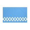 e by design Lace Up Geometric Print Throw Blanket