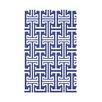 e by design Greek Isles Geometric Print Polyester Fleece Throw Blanket