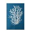 e by design Coral Reef Geometric Print Blue Area Rug