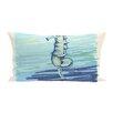 e by design Seahorse  Decorative Outdoor Pillow