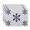 e by design Vail Holiday Print Placemat (Set of 4)