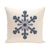 e by design Vail Decorative Holiday Print Throw Pillow