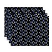 e by design Trumpet Flower Geometric Placemat (Set of 4)