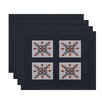 e by design Four Square Geometric Placemat (Set of 4)