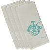e by design Bicycle Decorative Napkin (Set of 4)