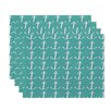 e by design Anchors Away Coastal Placemat (Set of 4)