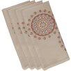 e by design Sea Flower Geometric Napkin (Set of 4)