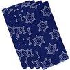 e by design Holy Stars Holiday Geometric Print Napkin (Set of 4)