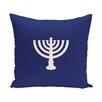 e by design Holiday Geometric Print Menorah Major Throw Pillow
