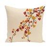 e by design Maple Hues Flower Print Throw Pillow