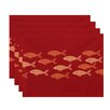 e by design Beach Vacation Fish Line Animal Placemat (Set of 4)