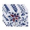 e by design Botanical Blooms Paisley Pop Floral Placemat (Set of 4)