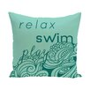 e by design Beach Vacation Mellow Mantra Word Throw Pillow