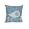 e by design Botanical Blooms Paisley Floral Floral Outdoor Throw Pillow