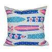 e by design Hang Ten Dean Geometric Throw Pillow