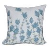 e by design Botanical Blooms Lavender Floral Throw Pillow