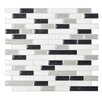 "Smart Tiles Mosaik 10.25"" x 9.13"" Mosaic Tile in Black & White"