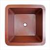 "Linkasink 16"" x 16"" Small Square Bar Sink"