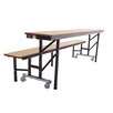 AmTab Manufacturing Corporation All-in-One Mobile Convertible Table and Bench