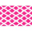 Thumbprintz Diamonds Pink Area Rug