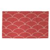 Thumbprintz Art Deco Circles Coral/White Area Rug