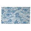 Thumbprintz Rose Tonic Blue/White Area Rug