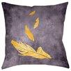 Thumbprintz Feather Float Printed Throwv Pillow