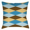 Thumbprintz Bold in Blue Argyle Indoor/Outdoor Throw Pillow