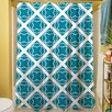 Thumbprintz Modern Geometric Topaz Shower Curtain
