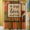 Thumbprintz Love Never Fails Shower Curtain