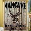 Thumbprintz Mancave II Shower Curtain