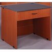 Stevens ID Systems Library Desk with Drawer and Locks