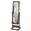 Hives and Honey Trinity Cheval Jewelry Armoire with Mirror
