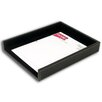 Dacasso 3200 Series Leather Front-Load Letter Tray in Rustic Black