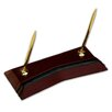 Dacasso 7000 Series Contemporary Leather Double Pen Stand in Burgundy