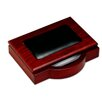 Dacasso 8000 Series Rosewood and Leather 4 x 6 Memo Holder